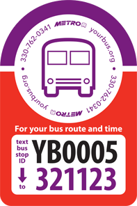 for your bus route and time, text your bus stop id yb0005 to 321123