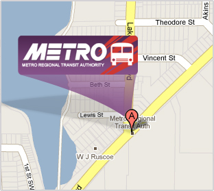 METRO RTA Contact METRO At - Akron on us map